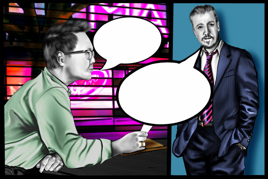 """Scene 4 """"The Plan"""" is the Chief Marketing Officer discussing the Plan with a VP of the company,  to achieve the goals set forth in Scene 2."""
