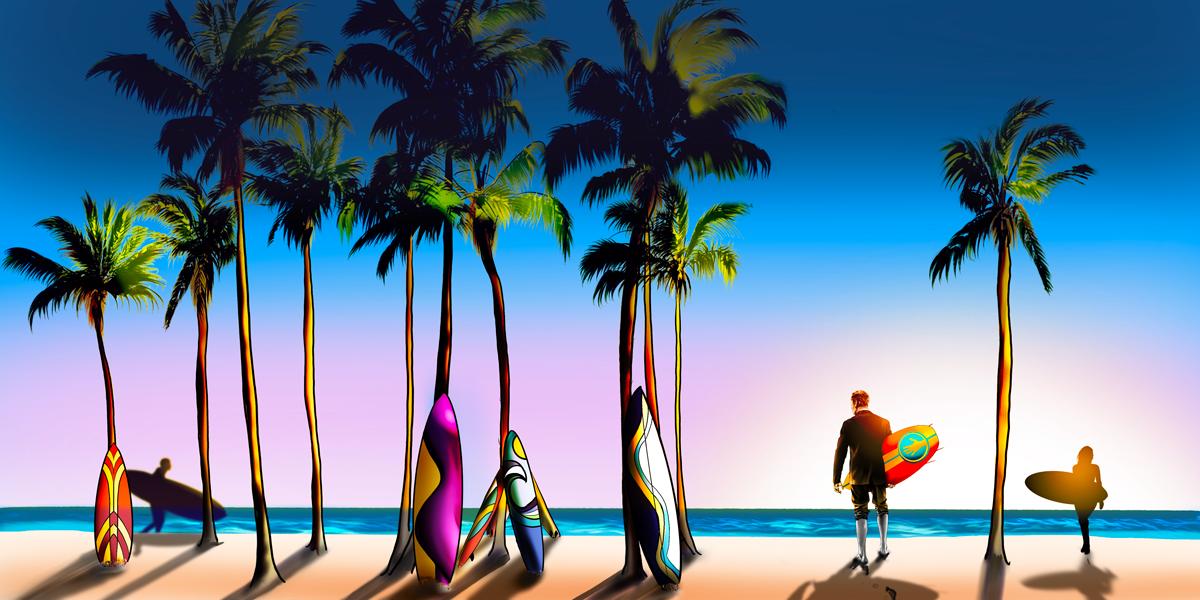 Digital illustration for Artsy Shark