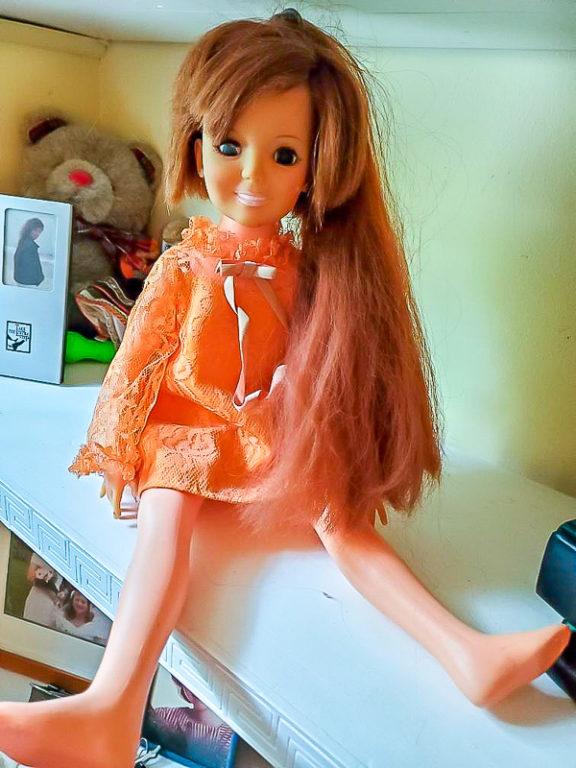 Crissy doll sitting on a shelf